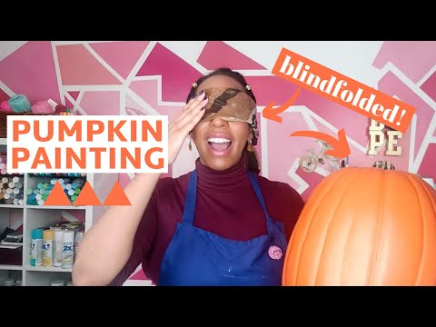 Paint A Pumpkin With Us Blindfolded Youtube