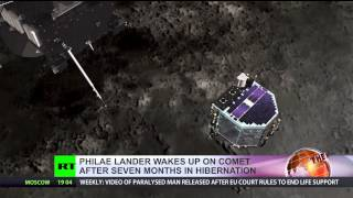 It's Alive! Philae comet probe wakes up after 7 months