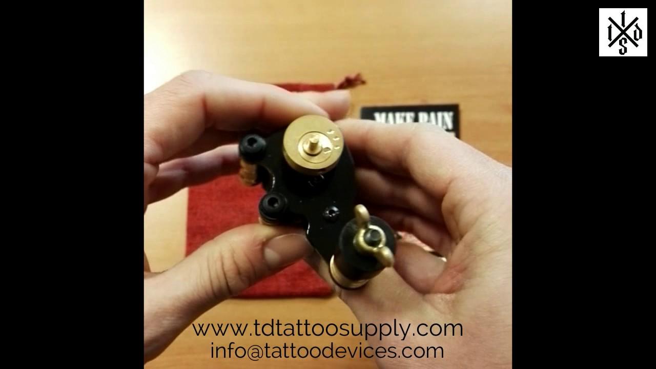 Make Pain Custom Rotary Tattoo Machine - YouTube