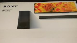 Sony HT-S350 Sound Bar (Unboxing)