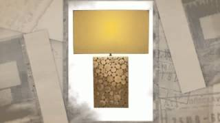 Driftwood Mosaic Large Table Lamp Home Decor