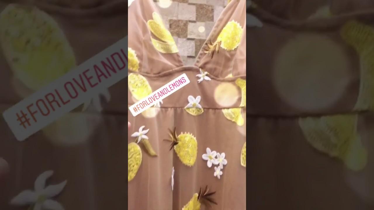 387ac00b4d83 FOR LOVE AND& LEMONS pineapple Fruitpunch Sequin Midi Dress - YouTube