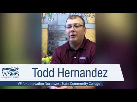 """WSOS """"50 for the Fiftieth"""" Todd Hernandez, VP Innovation, Northwest State Community College"""