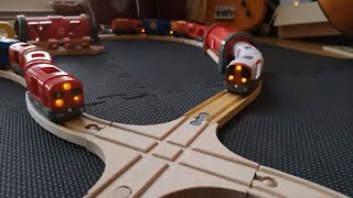 Crash, Challenge Brio, Red Vs White, METRO subway 6 x Tunnel, Building  wooden,Train, Learn and Play