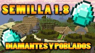 LA MEJOR SEMILLA  PARA MINECRAFT 1.8 - DIAMANTES, MINAS Y POBLADOS  EN EL SPAWN