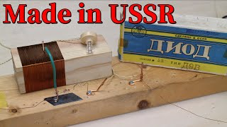 [Eng sub] I got Soviet-made germanium diode and modified the radio.
