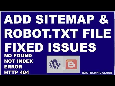 How to add Sitemap and Robot.txt file to blogger|Index|Fetch|Search Console|2019