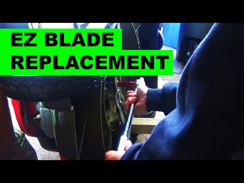 Replacing Lawn Mower Blades on the Honda HRX217