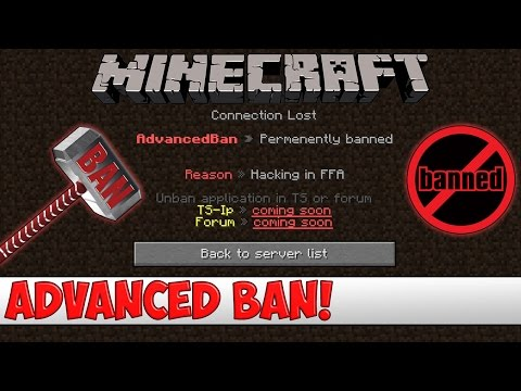Minecraft Plugin Tutorial - Advanced Ban