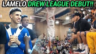 LaMelo Ball & Chino Hills GO LOCO In Drew League Debut!! Drops 25 In Front Of Lonzo & Fam 😱