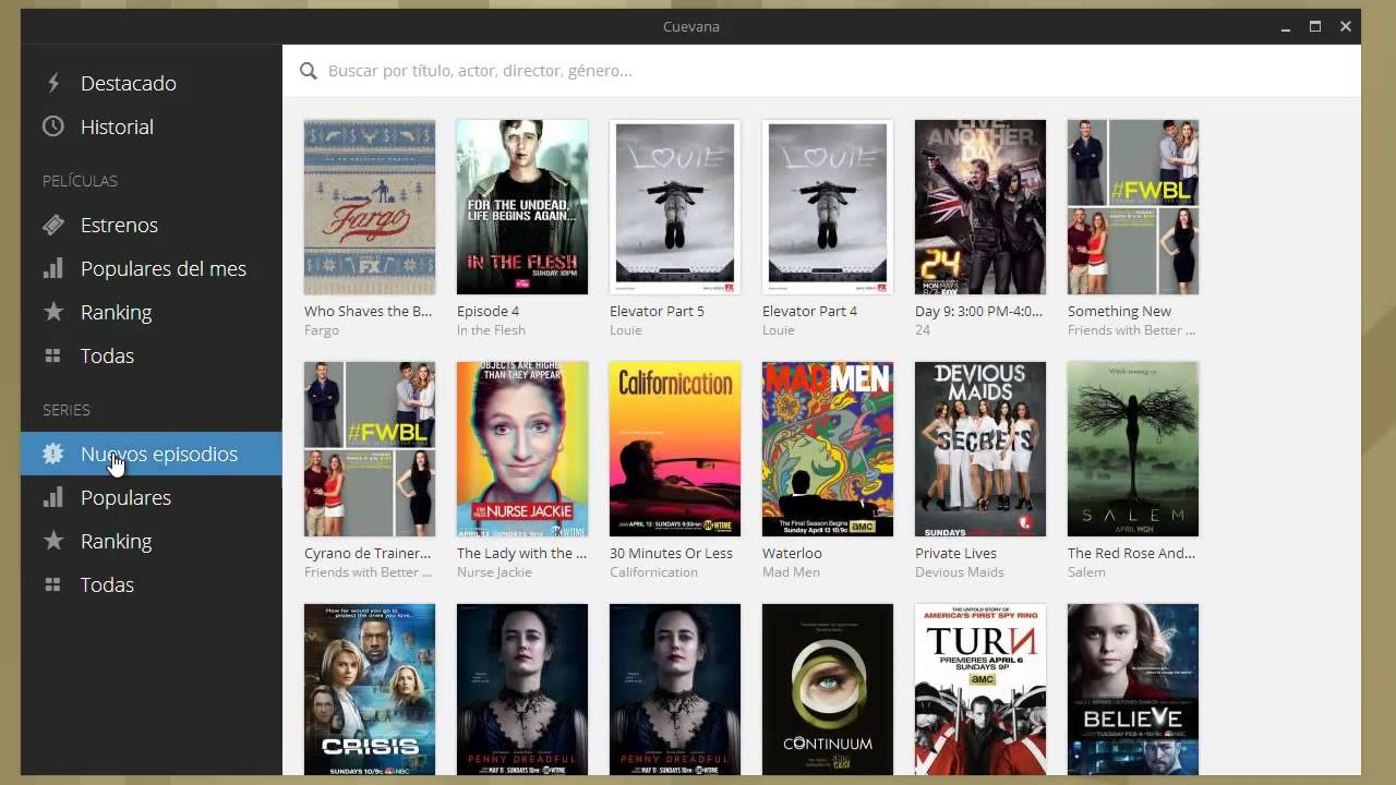 Cuevana c mo funciona este programa para ver series y for Programa para disenar dormitorios online