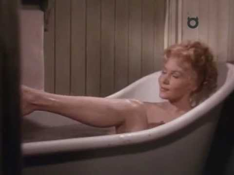 Rhonda Fleming bath scene in Pony Express (1953)