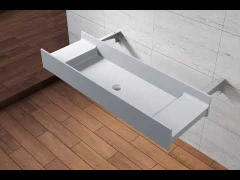 wall mounted sink installation youtube. Black Bedroom Furniture Sets. Home Design Ideas