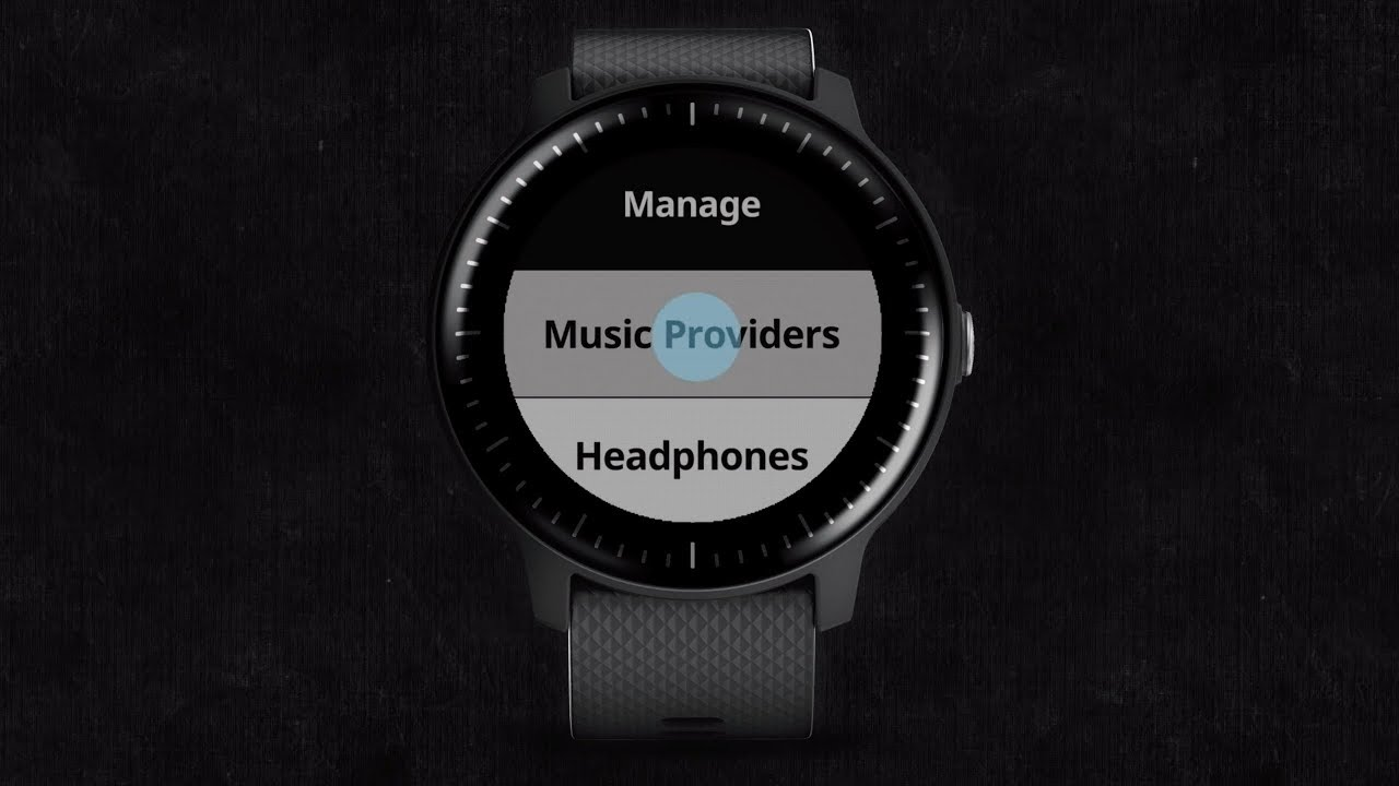 vívoactive® 3 Music: Listening to Music from Third-party Providers