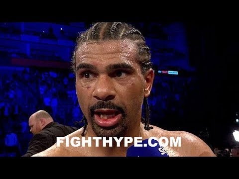DAVID HAYE SECONDS AFTER GETTING STOPPED BY TONY BELLEW; WHAT WENT WRONG AND IS THIS THE END?