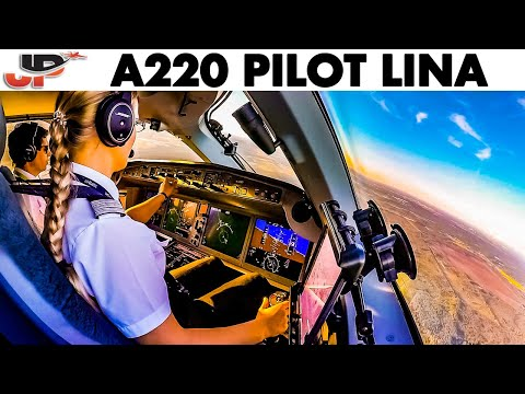 Liina Pilots AIRBUS A220 Iceland To Riga + Her Pilot Story