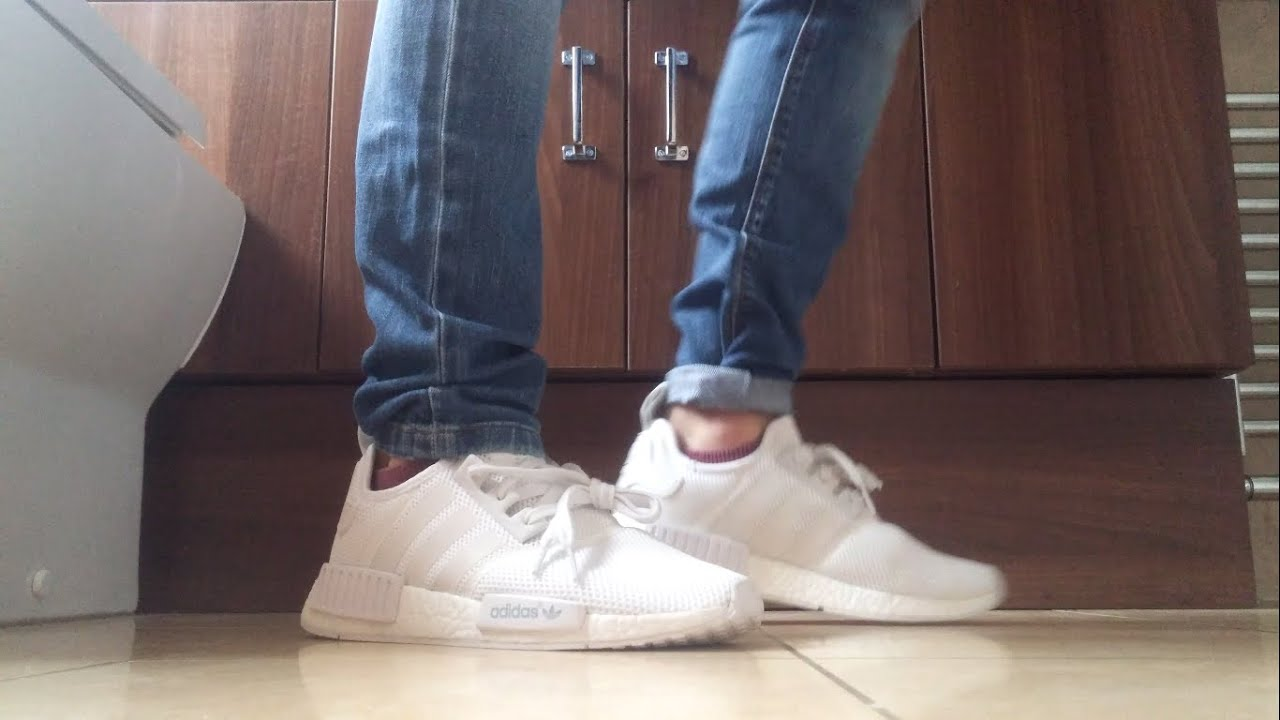 on feet adidas nmd triple white 4k jt williams youtube. Black Bedroom Furniture Sets. Home Design Ideas