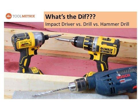 Impact driver vs drill vs hammer
