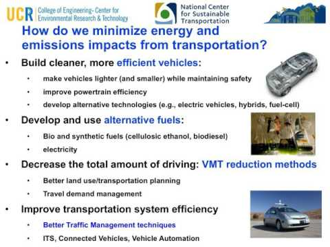 NCST Webinar: Reducing Greenhouse Gas Emissions through Intelligent Transportation System Solutions