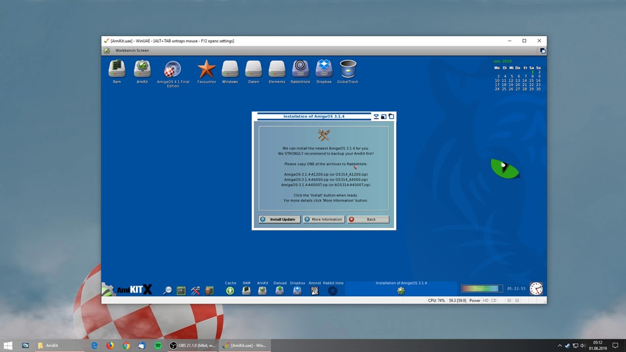 AmigaOS 4 1 Final Edition for Classic: Installation on AmiKit XE Modern  Retro