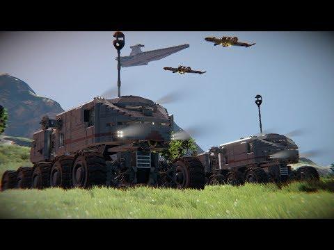 Star Wars Clone Wars HAVw A6 Juggernaut Tank - Space Engineers