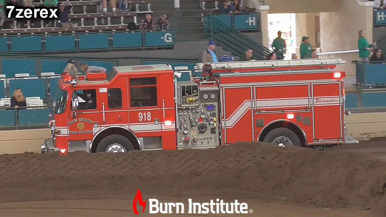 Fire Truck Parade Firefighter Demolition Derby San Diego County Fair  6-1-2019