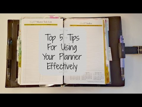 VEDA Day 18 | Top 5 Tips For Using Your Planner Effectively