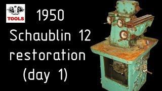 Шаублин 12 реставрация (день 1). Schaublin 12 restoration (day 1) [EN Sub]