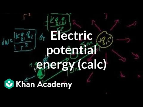 Electric potential energy (part 2-- involves calculus) | Physics | Khan Academy