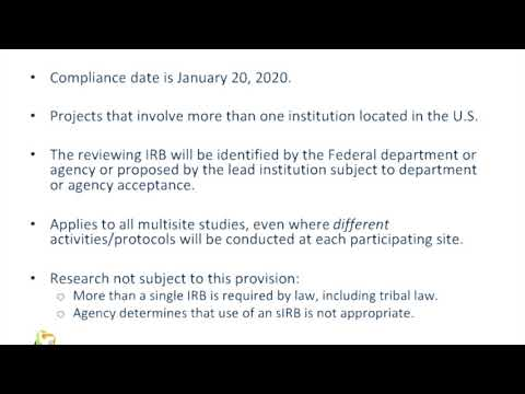 Single IRB Under the NIH Policy and the Revised Common Rule