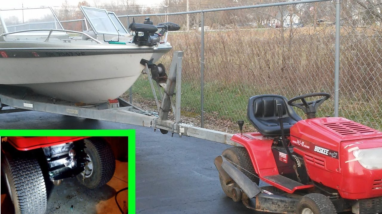 will a lawn tractor pull a boat trailer how to add a hitch to a lawn garden tractor - Garden Tractor Trailer