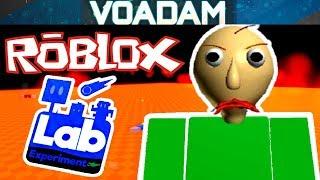 Baldi Is A Lab Experiment!? (Baldi Plays Roblox #3)