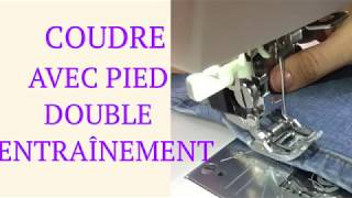Utiliser un dispositif / pied de biche double entrainement 📍😊✂️