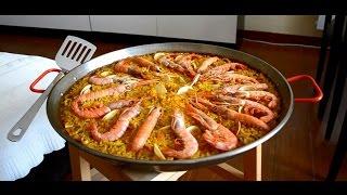 Паэлья с морепродуктами (Paella de mariscos). Испанская кухня