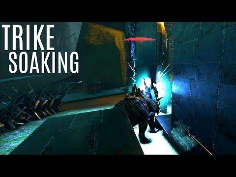 SOAKING TEK TURRETS w/ Trikes and Cobra Defense - Official PVP - ARK Survival