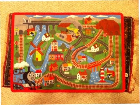 Thomas the Tank Engine and Friends playing carpet matt rug ...