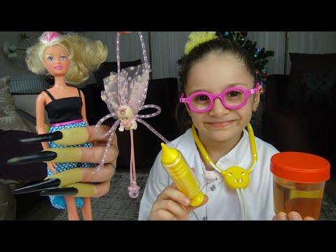 Download Lina Doktor Oldu Barbie yi Tedavi Ediyor   Eğlenceli Çocuk Videosu