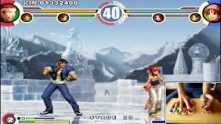 The King of Fighters XI PC PCSX2 - Gameplay Demo HD - PushButton ArcadeStick