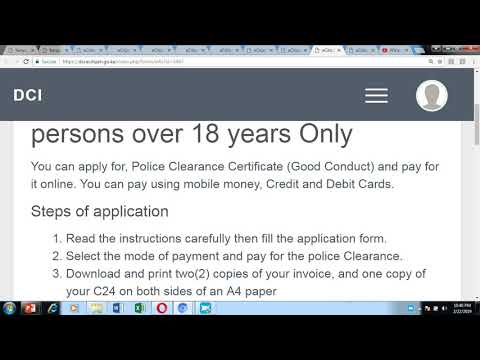 Kenya - Obtain Police Clearance Certificate (Certificate of
