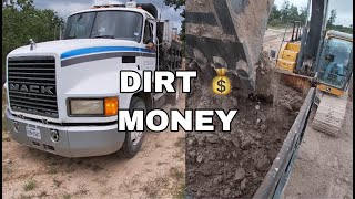How i make money with my dump truck / overloaded dump truck / buying and selling dirt