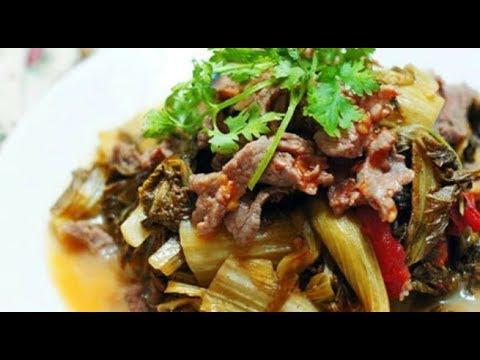 cách nấu thịt bò xào dưa chua ngon cơm.