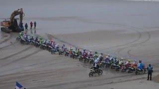 Départ Espoir 85 au GURP TT à Grayan et l'Hopital. CFS: Championnat de France de courses sur sable.
