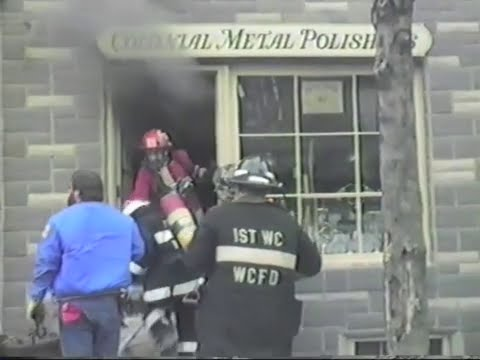 Colonial Metal Polishers Building Fire - West Chester, PA