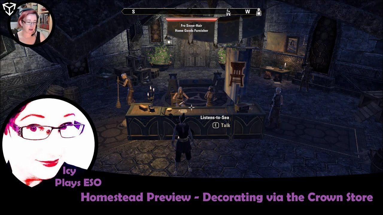 ESO PTS | Homestead - Decorating via the Crown Store | Icy Plays 20170107