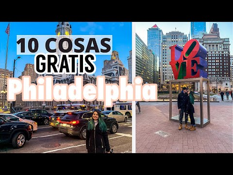10 COSAS GRATIS que DEBES HACER en PHILADELPHIA 🇺🇸    LO MEJOR de Philadelphia en 1 dia😱!!
