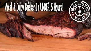 BBQ Brisket In Under Five Hours?  Tender & Juicy On The Pit Barrel Cooker!