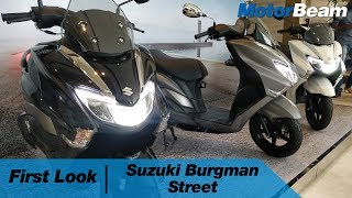 Suzuki Burgman Street - First Look   MotorBeam