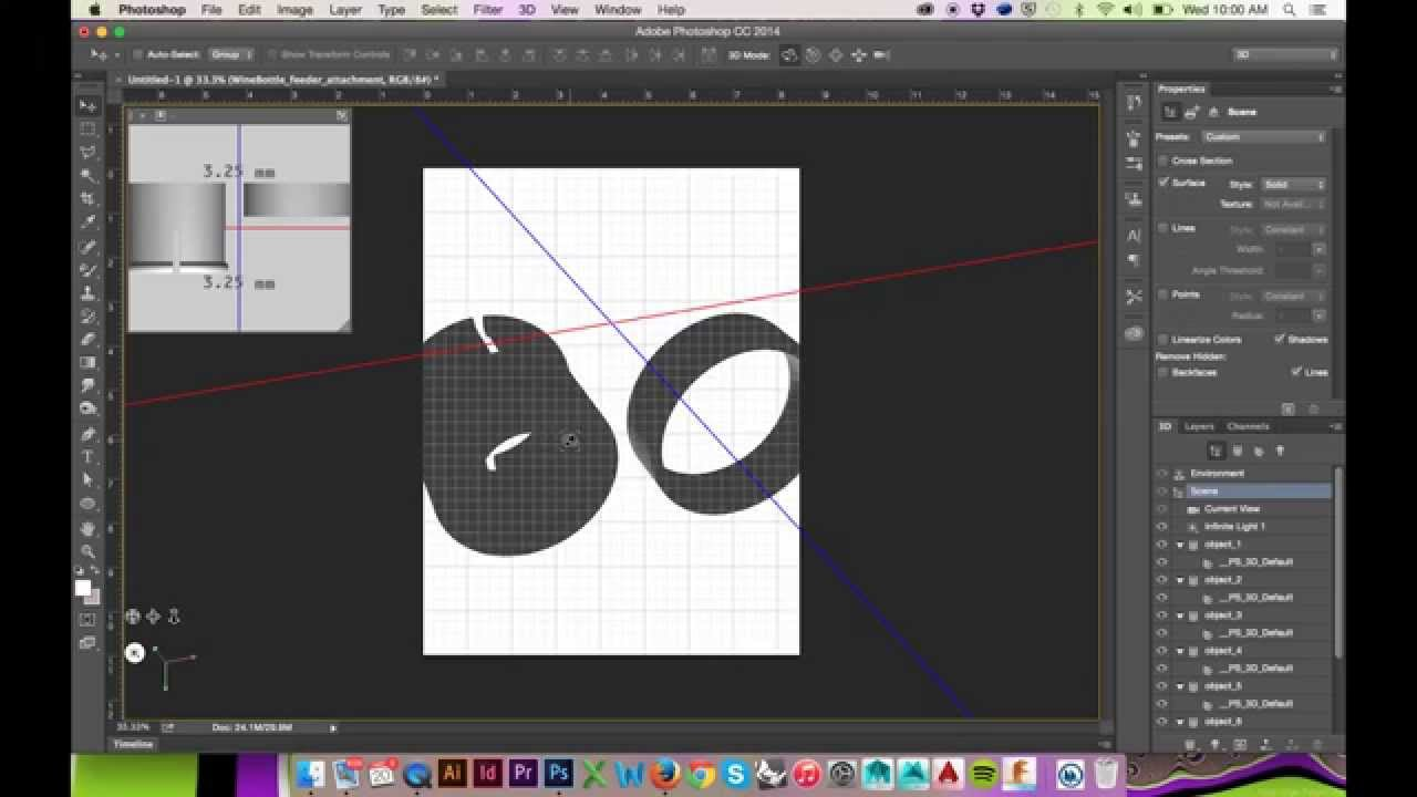 Exporting Rhino 3d Model For Use In Photoshop Cs6 Cc Youtube