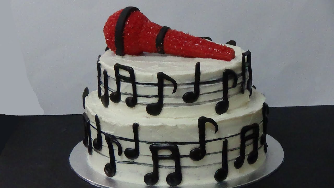 How To Make Music Cake Youtube
