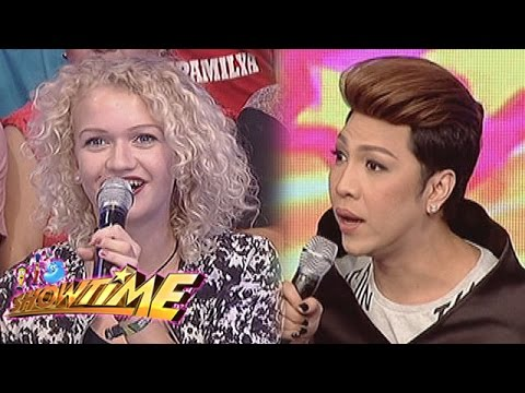 Its Showtime: Vice Ganda talks to a German lady